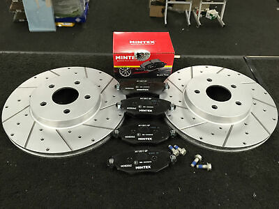 FORD MONDEO MK3   1.8 2.0 2.2   01-07 TWO FRONT BRAKE DISCS AND BRAKE PADS SET