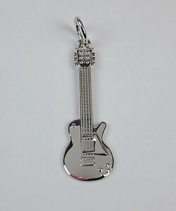 Sterling-Silver-Electric-Guitar-Charm-Engravable-Free-U-S-Shipping