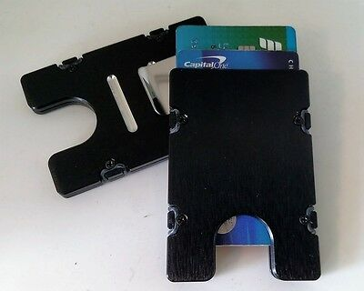 Blue Billet Aluminum Wallet//Credit Card Holder RFID Protection Standard