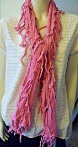 Brand New Bright Pink Tassel Edge Laitue écharpe 6 Ft (environ 1.83 M) Long Entièrement Neuf Dans Sa Boîte-afficher Le Titre D'origine Dissipation Rapide De La Chaleur