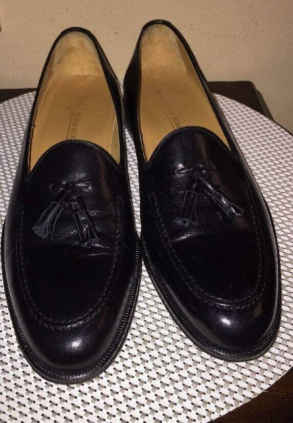 molte sorprese LKNW 11 N Narrow Peter Huber nero Soft Soft Soft Leather Tassel Slip On Made in Spain  comprare a buon mercato