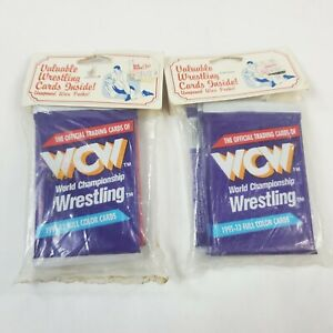 Two 3-Packs 1991 WCW World Championship Wrestling Trading Cards (72 Total)