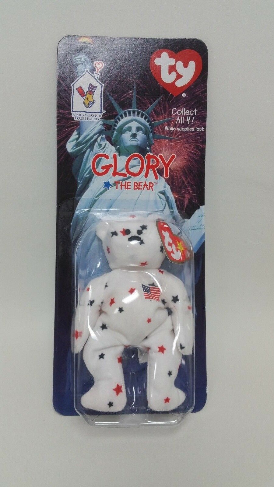 RARE Glory The Bear 1997- McDonald's Ty Beanie Babies With With With Errors 1993 OakBrook 6f0bcb