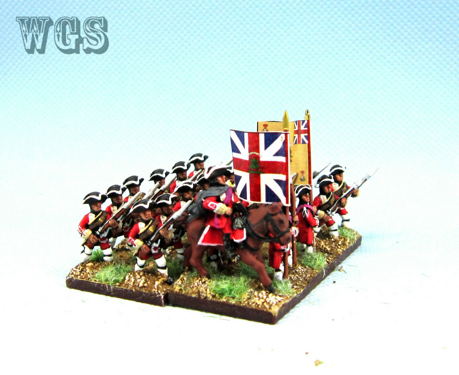 15mm Syw Seven Years War un Pintado británico Mosquetero adavancing Ba10