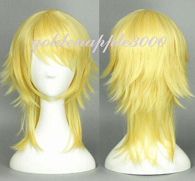 """18""""Love Live! Eli Ayase Ellie Genderswapped Medium Yellow Blonde Cosplay Wig"""