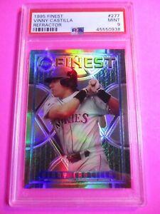 1995-Finest-Refractor-Rockies-Baseball-277-Vinny-Castilla-PSA-9-MINT