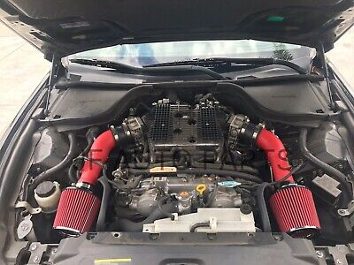 """Filter For 09-16 370Z//08-13 G37 3.7L V6 3.5/"""" RED Heat Shield Cold Air Intake"""