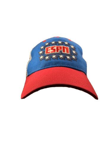 Vintage ESPN Sports Network Hat Rare Red White Blu