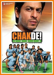 Chak De India Bollywood Movie Posters Vintage Classic Indian Films
