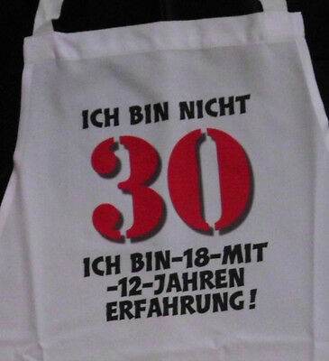 Nicht 30 Schürze für Erwachsene Geburtstag Scherzartikel Grill Koch Gag