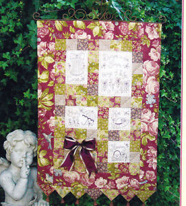 CLEARANCE-Simple-Things-stitchery-amp-pieced-wall-quilt-PATTERN-Rivendale