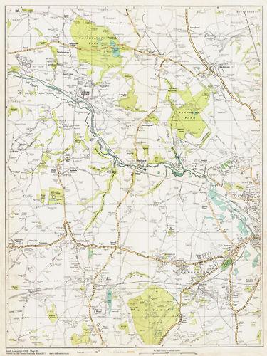 west Wigan area map Lancashire 1934 Sheet 20