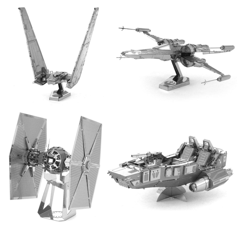 Fascinations Metal Earth 3D Laser Cut Model Star Wars The Force Awakens Set of 4