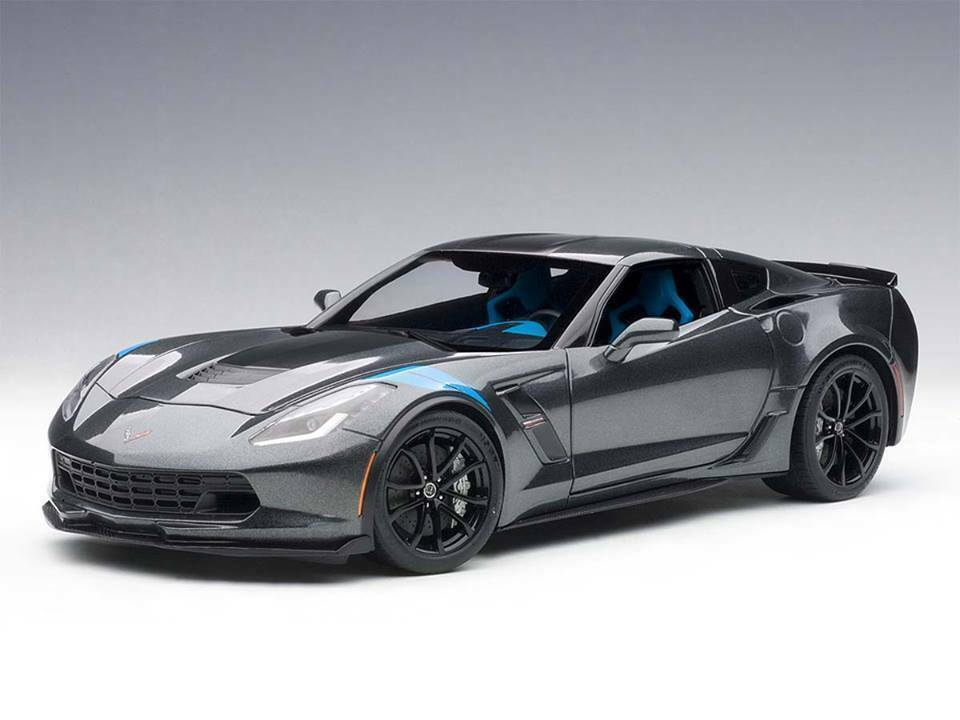 AutoART 1 18 Chevrolet Corvette C7 Grand Sport 2017 Grey Met. 71272 NEW
