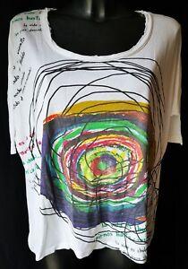 DESIGUAL-T-shirt-MAGLIA-TG-S-in-Cotone