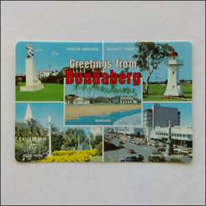 Greetings from Bundaberg Hinkler Memorial Bargara Bourbong St MV Postcard (P353)