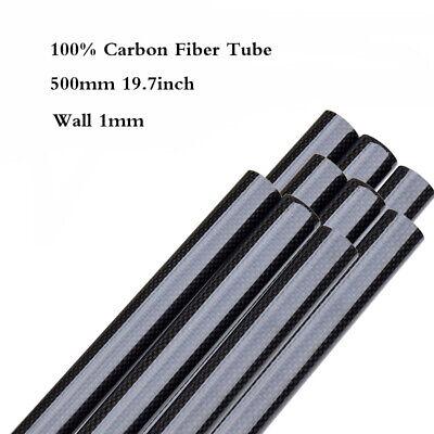 """Dia 8-50mm Wand 1mm 3K Kohlefaser Rohr Glänzende Oberfläche Rolle Gewickelt 20/"""""""