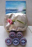 Bareminerals Sun Struck 5-piece Hydrating Eyecolors + Bag Full Sizes