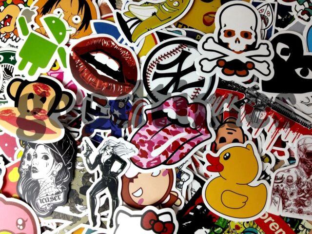 20 Aufkleber Doodle Retro Sticker Set Dekoration Auto Stickerbomb Laptop Handy