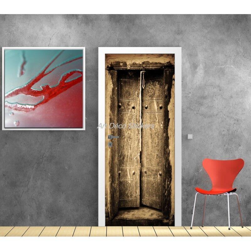 Cartel Póster para Puerta Trampantojo Vieja 577 Arte Decoración Pegatinas