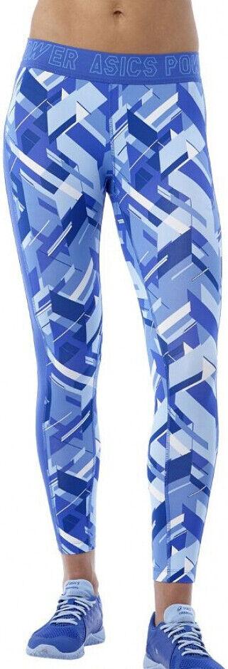 Asics Base GPX 7 8 Womens Long Running Tights - bluee
