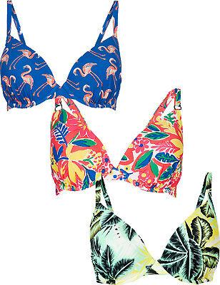 M/&S Collezione Donna Flamingo Stampa Hipster Bikini Bottom Nuovo!!!