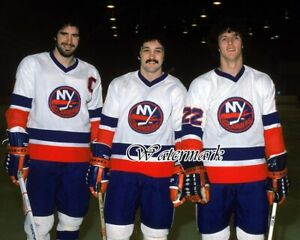 NHL-1979-New-York-Islanders-Gilles-Trottier-amp-Bossy-Color-8-X-10-Photo-Picture