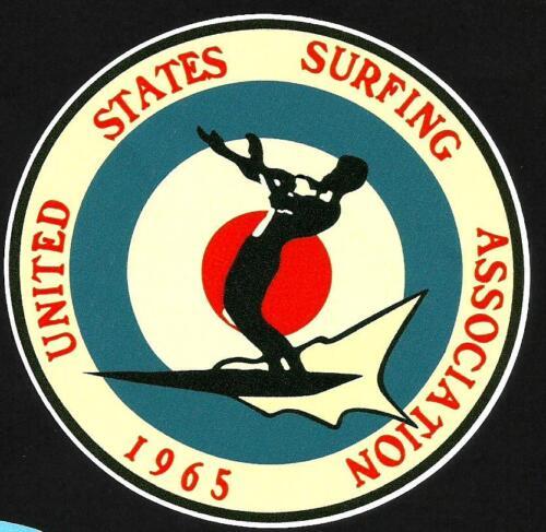 1965 UNITED STATES SURFING ASSOC Surfboard Sticker Decal LONGBOARD Surfing