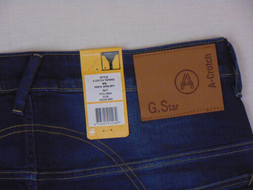 G-Star Raw A Crotch Tapered W32 L34 RRP £107 Mens Blue Firro Denim Jeans