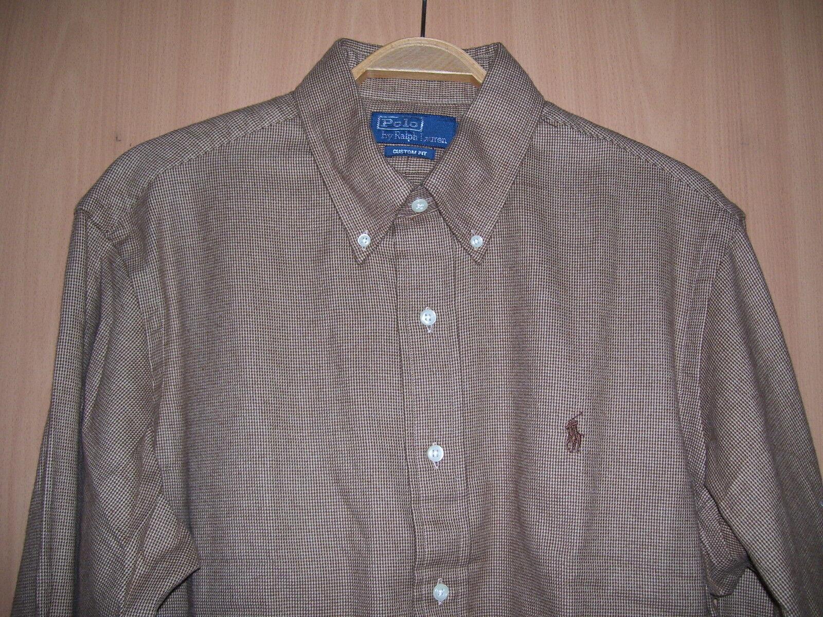 Polo by Ralph Lauren Herren Hemd warm Winter Baumwolle braun kariert Größe L neu