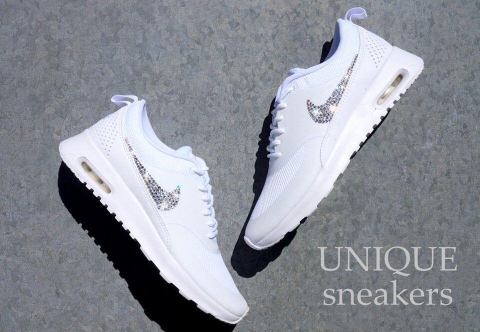 WMNS Crystal Glitzer Nike Air Max Thea weiß Gr. 38,5 Glitzer Crystal mit  Swarovski Elements 42896c f071cff42d