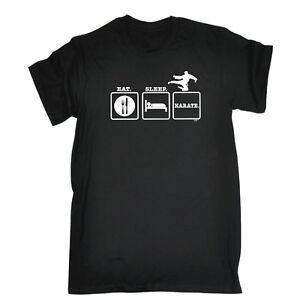 Funny-Novelty-T-Shirt-Mens-tee-TShirt-Eat-Sleep-Karate