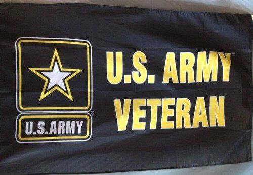 3X5 Army Veteran Flag Banner Grommets Retired FAST SHIPPING by FanzofSportz
