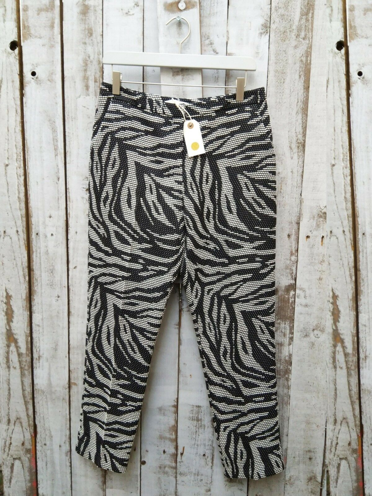 Nil. Embroidered Zebra Print Trousers Size  M   Was Selling At Plumo