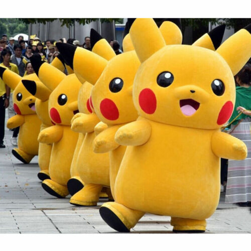 Cosplay Pikachu Mascot Costume Halloween Party Xmas Fancy Dress Outfit Fast Ship