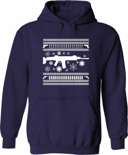Sweat à Capuche Pull Hommes Femmes Unisexe Pull pistolet neige Ugly Christmas Cadeau S ~ 3XL