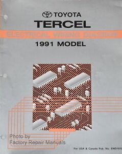 1991 toyota tercel electrical wiring diagrams original factory rh ebay com 1991 toyota pickup wiring diagram 1991 toyota pickup wiring diagram