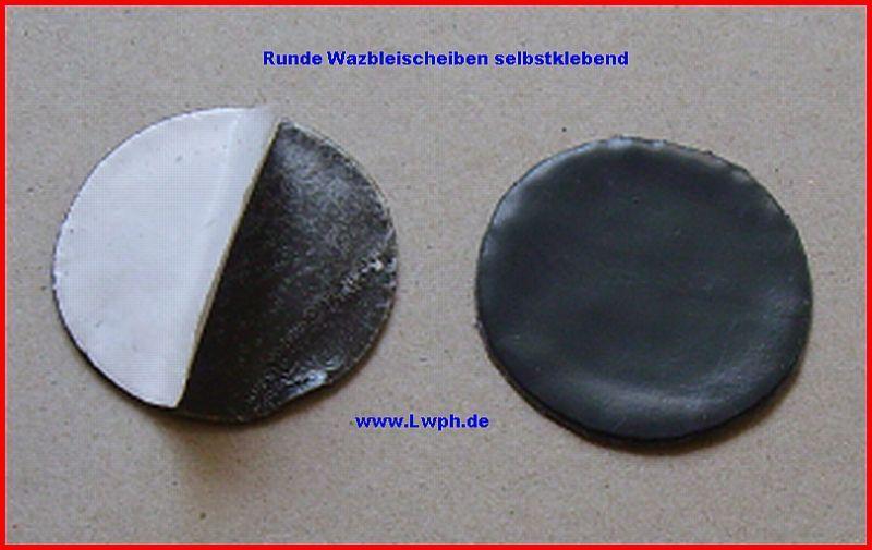 100 rossoondo Piombo Laminato BleiScheiben 4,0 cm a 15 Erl Autoadesiva Modellismo