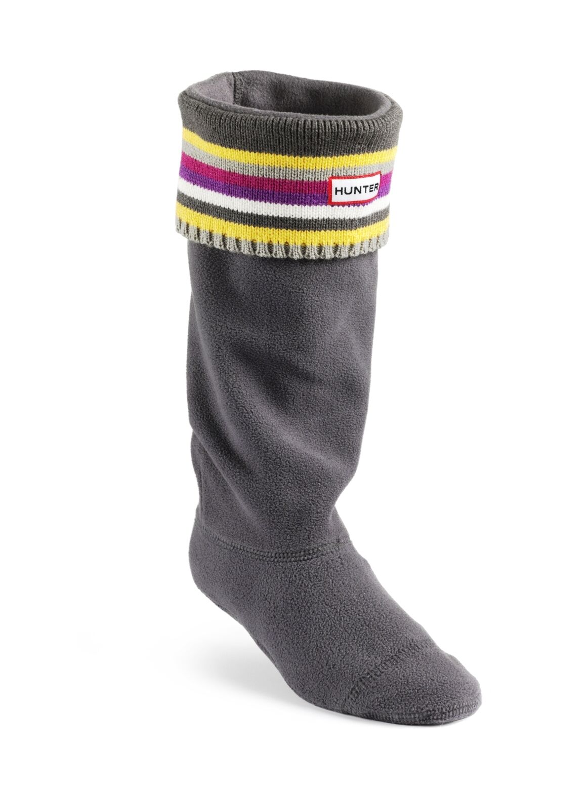 Hunter Welly Warmers Striped Multi Heathers S24186 MHE Adult Size Med Fits 3,4,5