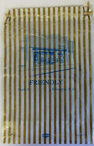 Vintage-FRIENDLY-039-S-su-Castello-S-Wilmington-Nc-Plastica-Regalo-Borsa