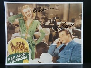 ROY ROGERS & DALE EVANS DUAL AUTOGRAPHED COLOR 8X10 PHOTOGRAPH MAN FROM OKLAHOMA