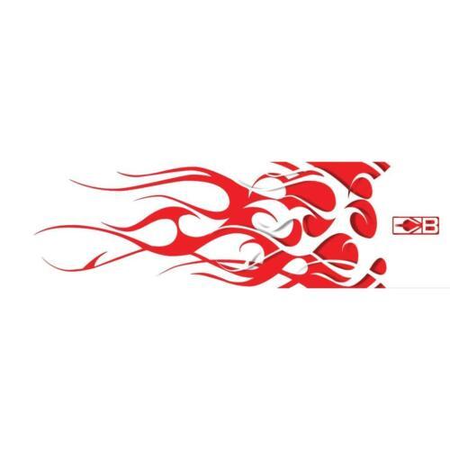 """BOHNING ARROW WRAP blanc et rouge flamme 7/"""" standard 12 Pack"""