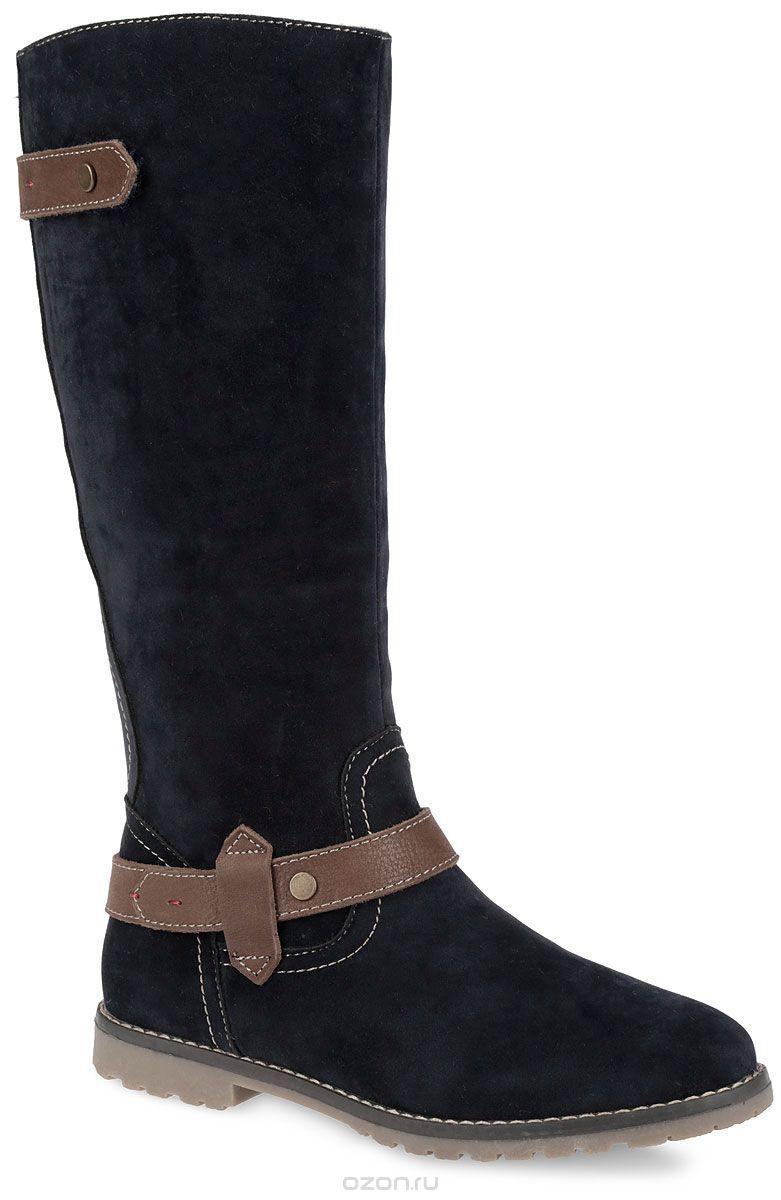 Damen Keddo kniehoch Marineblau Wildleder Stiefel