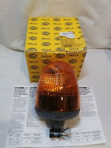 Hella 006846001 Kl Rotaflex Fl Rotating Beacon Amber Lens