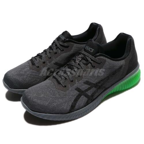 Asics Gel-Kenun Dark Grey Green Gecko Men Running Shoes Trainers T7C4N-9590
