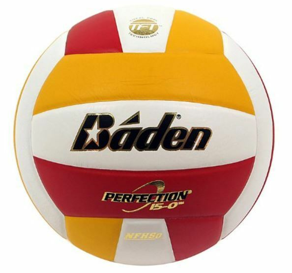 Leather Volleyball Game Ball Indoor Gym Baden VX5EC Perfection Elite 15-0