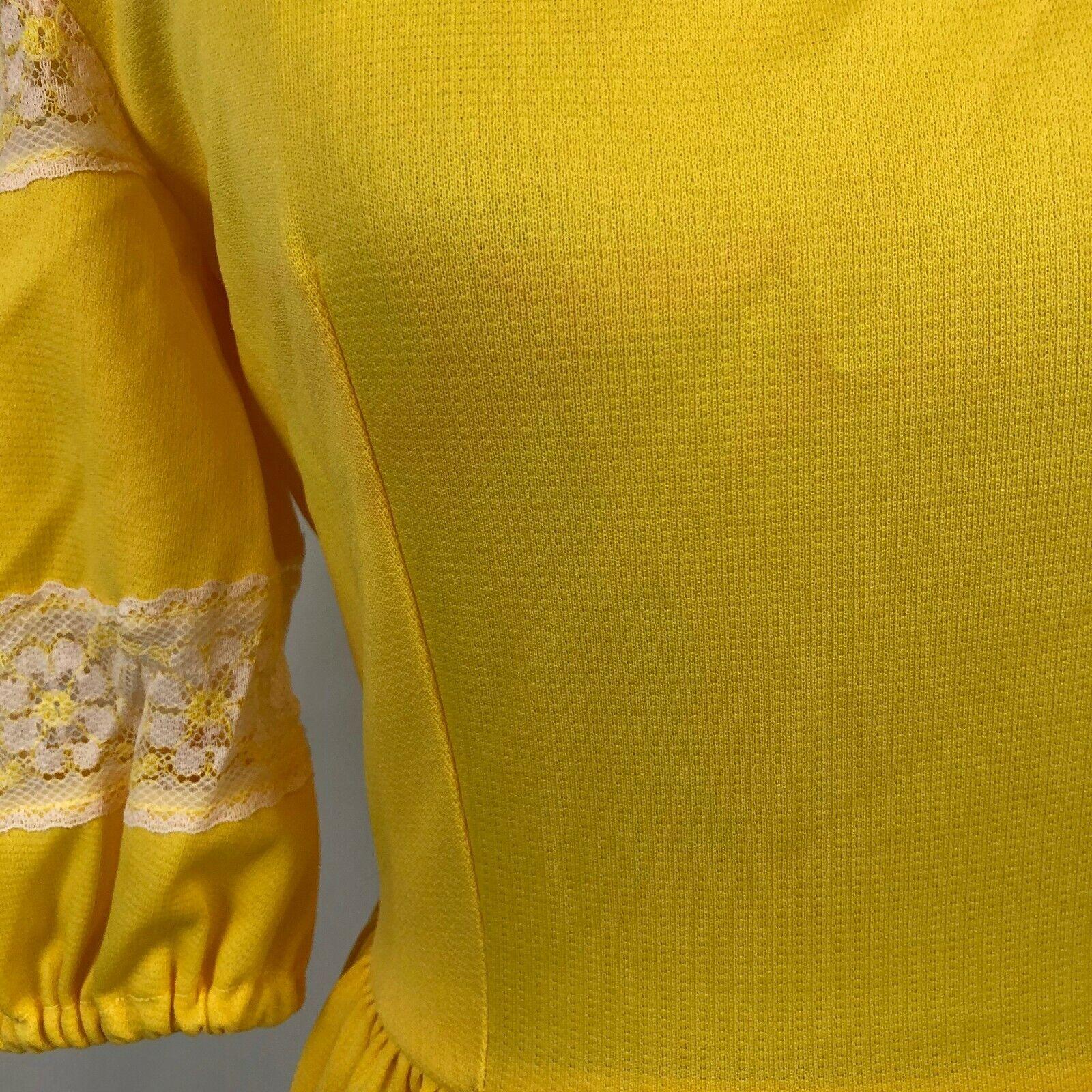 Vintage Lolita Dress Bright Yellow S/M See measur… - image 3