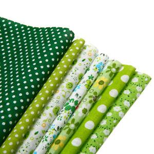 7 Stück Stoffe Baumwolle Baumwollstoff  DIY Baumwolltuch Stoffreste Stoffpakete
