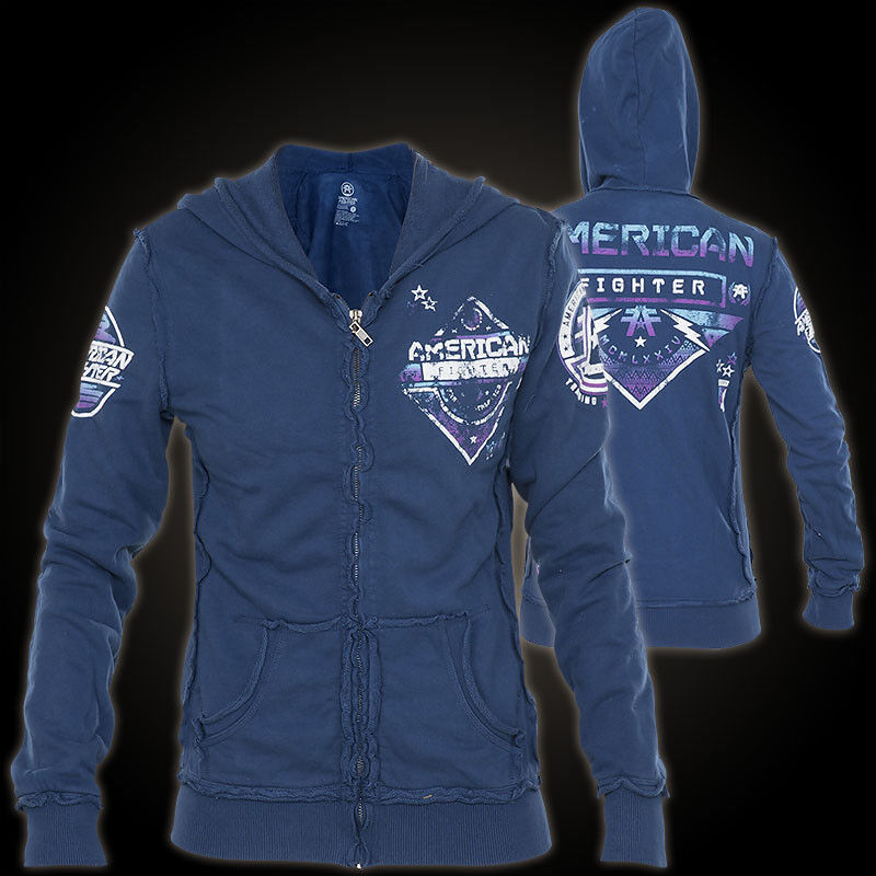 American Fighter by Affliction Woman Hoody Colby bluee