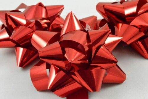 "32 x Self Adhesive Metallic Gift Bows 2.5/"" Birthday Present Christmas Wrapping"